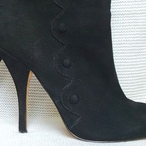 Betsey Johnson 'Wing It' Suede Victorian Boots